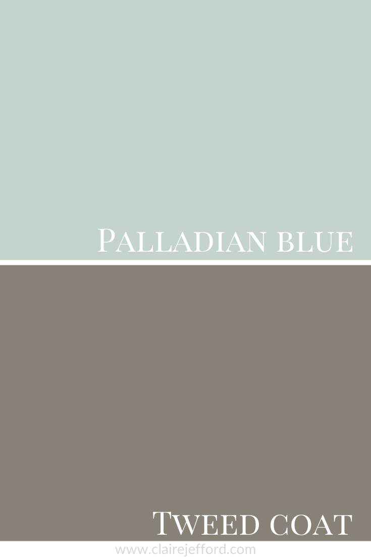 Palladian Blue and Tweed Coat