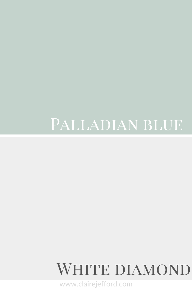 Palladian Blue And White Diamond