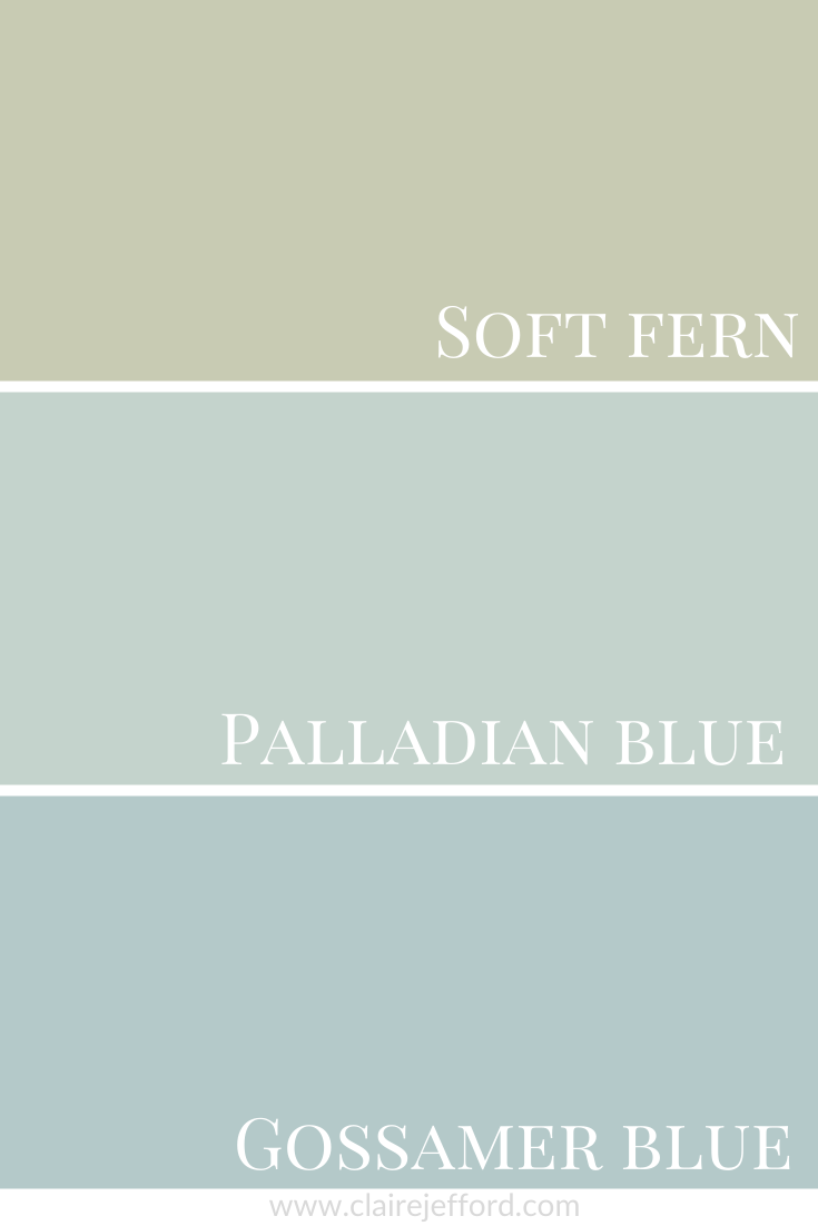 Palladian Blue Soft Fern and Gossamer Blue