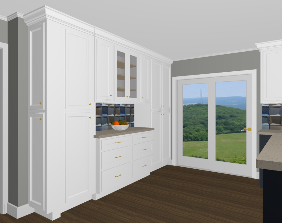 View Of Pantry Wall With Some Base Cabinetry 1