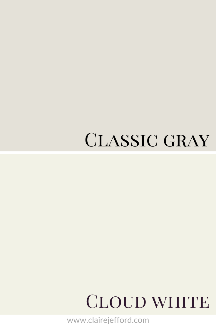 Classic Gray And Cloud White