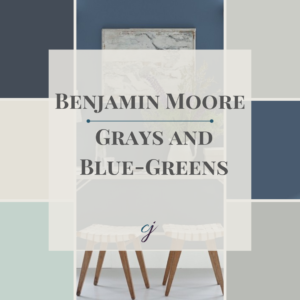 Colour Guide Collection Cover Grays And Blue Green Benjamin Moore Claire Jefford