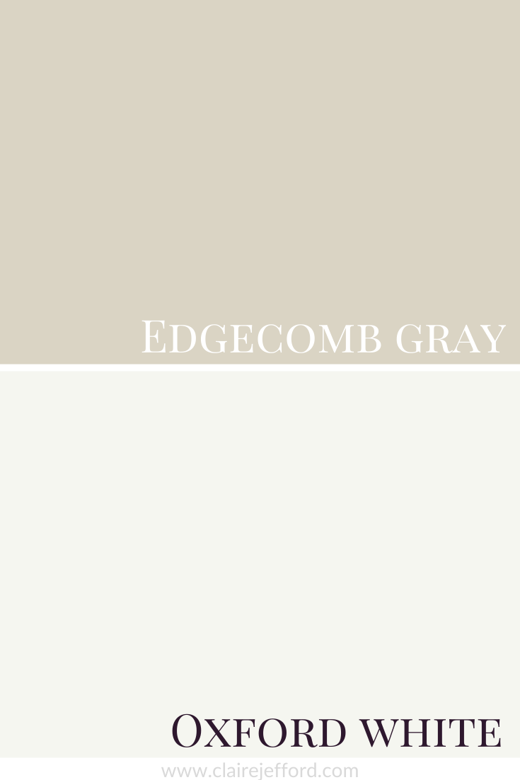 Edgecomb Gray And Oxford White