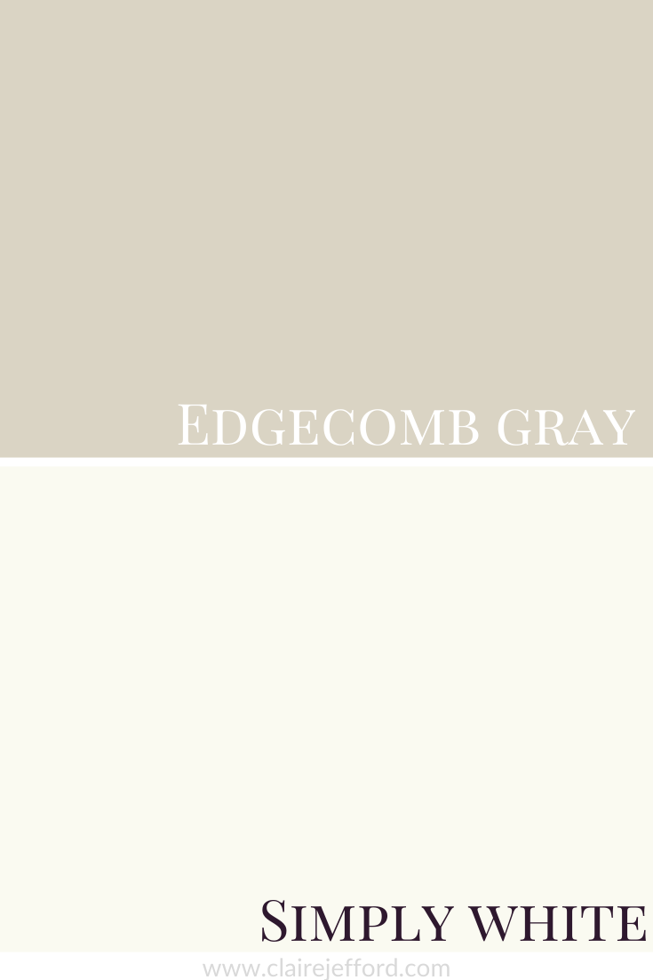 Edgecomb Gray And Simply White