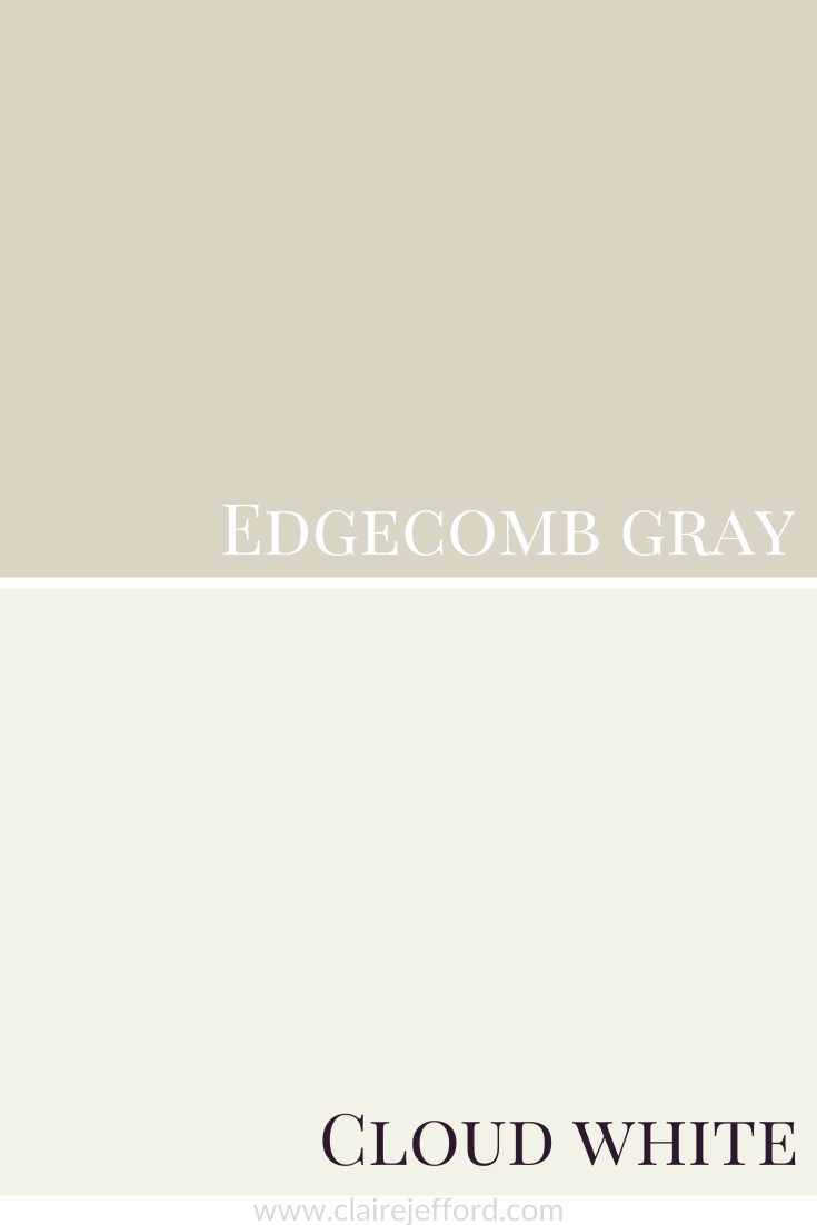 Edgecomb Gray And Cloud White
