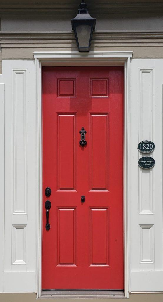 Deep Organge Door