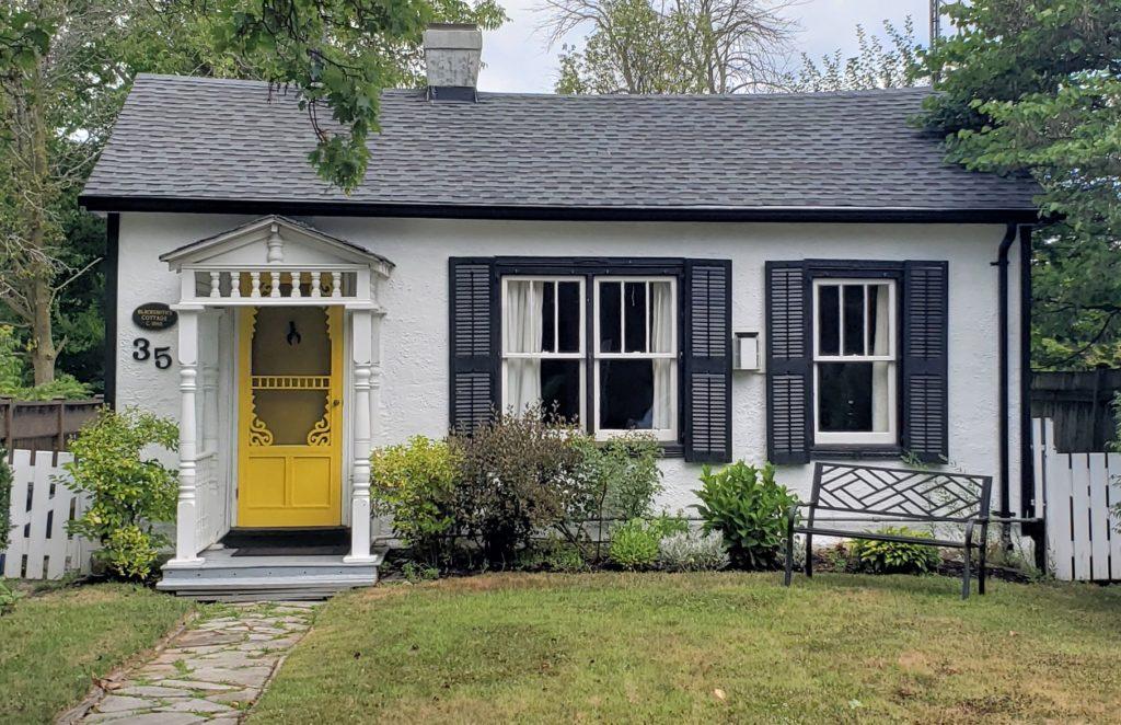 Little White House Sun Kissed Yellow Front Door Black Shutters